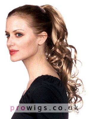 """20"""" Curly Clip-In Remy Hair Ponytail"""