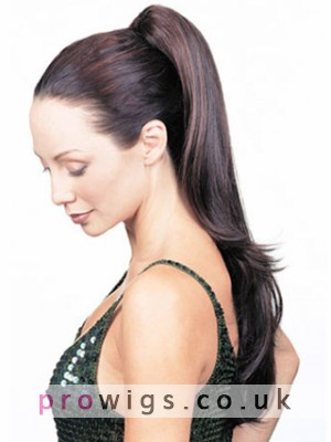 """Clearance 20"""" Natural Straight With Claw Comb Synthetic Ponytail"""