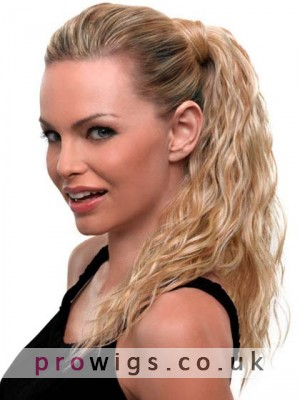 Synthetic Clip In Wavy Ponytail
