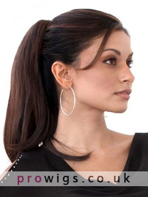 Medium Length Straight Synthetic Claw-Clip Ponytail