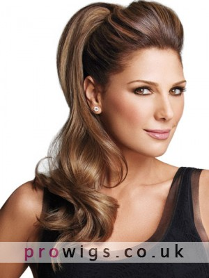 Pressure Sensitive Clips Synthetic Wavy Ponytail