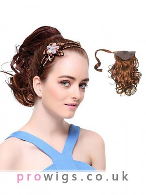 Fashion Synthetic Brown Wavy Ponytail