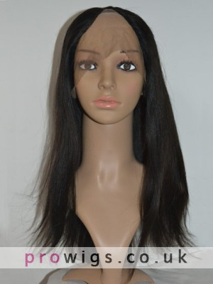 Natural Straight Remy Hair Lace Front U Part Wig