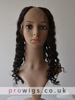 Long Curly Alluring U Part Wig