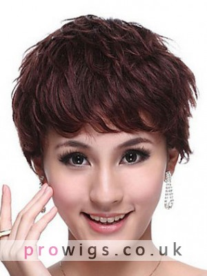 100% Human Hair Short Wavy Wig