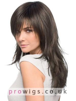 Long Textured Layered Lace Front Human Hair Wig