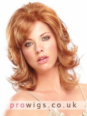 Mid-Length Wavy Full Body Synthetic Wig