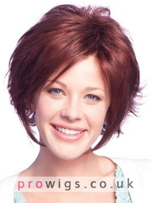 Short Remy Human Hair Wig With Soft Layers At Back