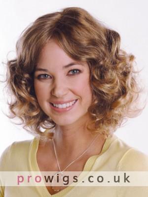 Mid-Length Wavy Remy Human Hair Wig