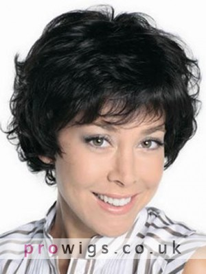Short Wavy Full Lace Remy Human Hair Wig