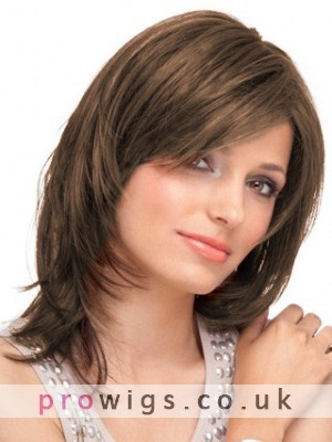 Natural Straight Lace Front Mid-Length Wig