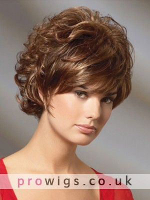 Short Curly Classic Cut Remy Human Hair Wig