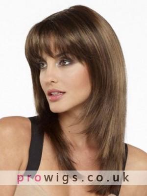 100% Human Hair Long Straight Wig