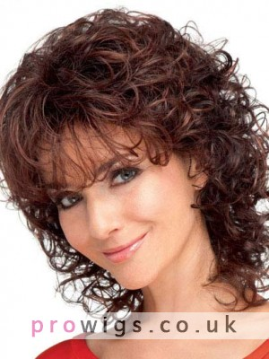 Mid-Length Gorgeously Curly Synthetic Wig