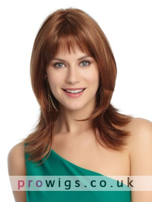 Mid-Length Natural Straight Synthetic Fashion Wig