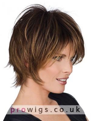 Medium Length Straight Human Hair Wig