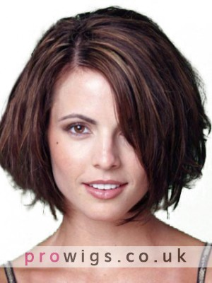 Casual Short Straight Human Hair Wig
