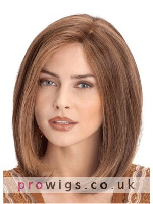 Medium Lace Front Human Hair Wig