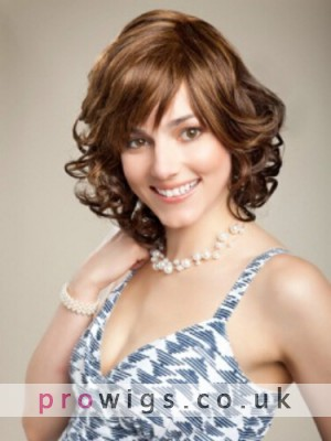Short Curly Full Lace Human Hair Wig For Women