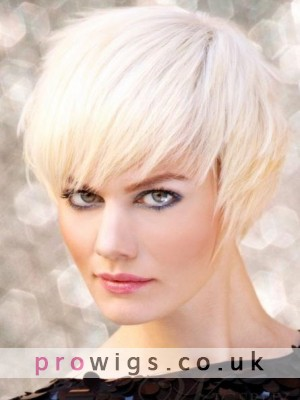 Top Quality Short Layered Straight Human Hair Full Lace Wig