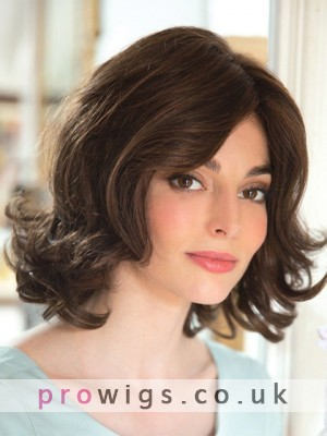Pretty Medium Length Lace Front Curly Women Wig