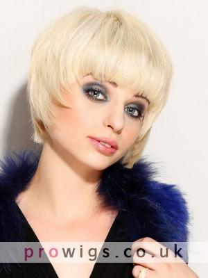 100% Remy Human Hair Short Custom Capless Short Wig