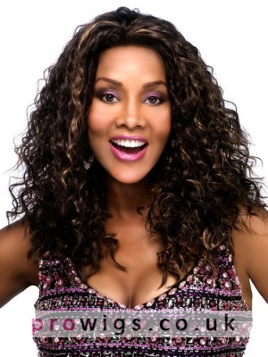 """20"""" Length Black Curly Full Lace Wig"""