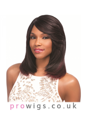 Pretty Medium Length Lace Front Straight  Wig