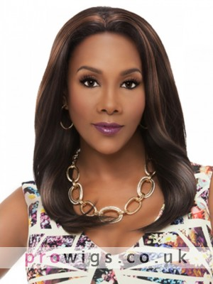 """18"""" Silky Straight Lace Front Remy Human Hair Wig"""