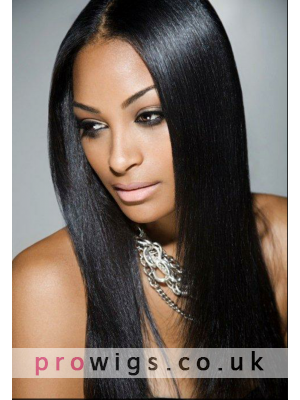 "24""Centerpart High Quality Straight Synthetic Lace Front Wig"
