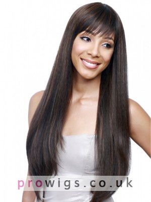 """26"""" Straight Full Lace Remy Human Hair Wig"""