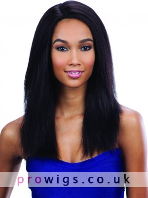 """Black 18"""" Straight Capless Wig With Layers"""