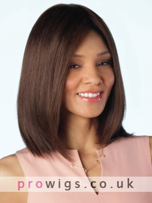 Natural Straight Full Lace Wig With Centerpart