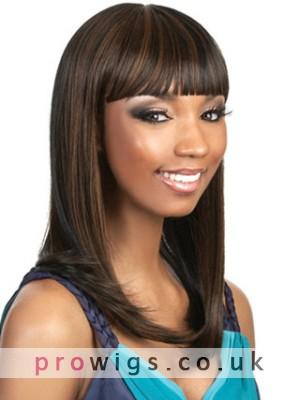 Long Sleek Cleopatra Style With Bold Bangs Wig