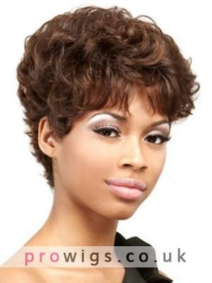 100% Remy Human Hair Wavy Wig