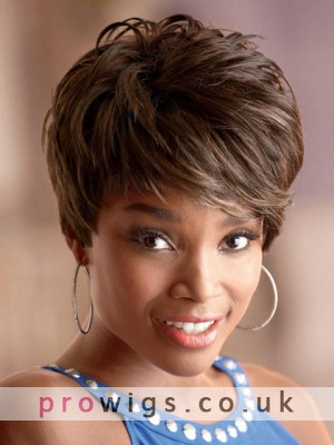 Nadia Short Capless Synthetic Hair Wig