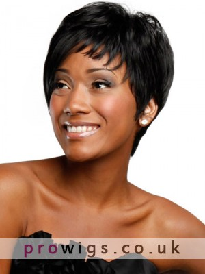 Boy-cut Asymmetrical Short Synthetic Wig