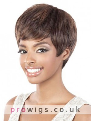 Unisex Short Straight Synthetic Wig