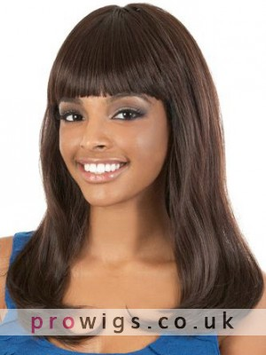Full Bang Long Wavy Synthetic Capless Wig