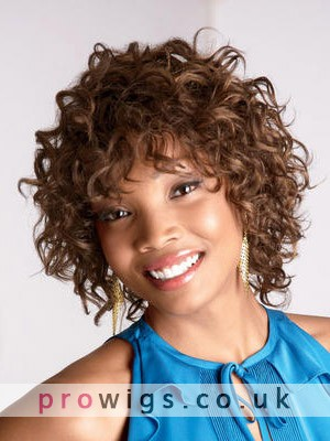 Medium Curly Synthetic Capless Wig