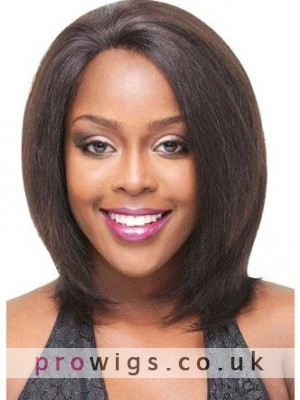 Yaki Medium Straight Remy Human Hair Lace Front Wigs c840676048e2