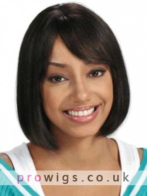 Medium Straight Synthetic Capless Wig