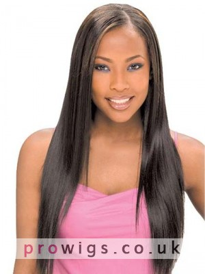 Natural Amazing Long Straight Lace Front Wig