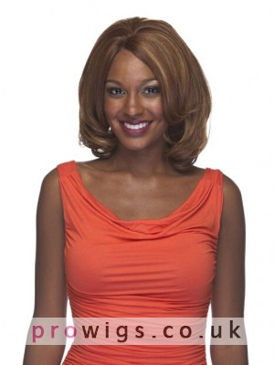High Quality Wavy Ends Synthetic Wig In Bob Style