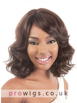 Should Length Wavy Synthetic Capless Wig For Black Women