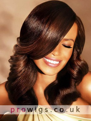 Graceful Natural Loose Wavy Full Lace Human Hair African American Wigs