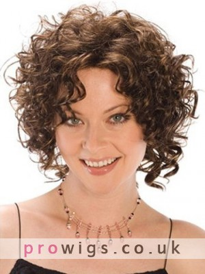 Angelina Medium Length Curly Synthetic Wig