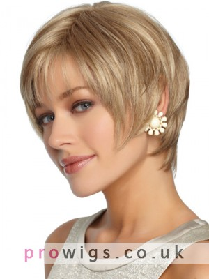 Sleek Straight Short Shag Synthetic Wig
