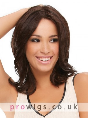 Mid-Length Wavy Lace Front Synthetic Wig