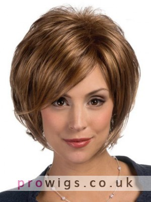 Wispy Layered Front Lace Synthetic Wig